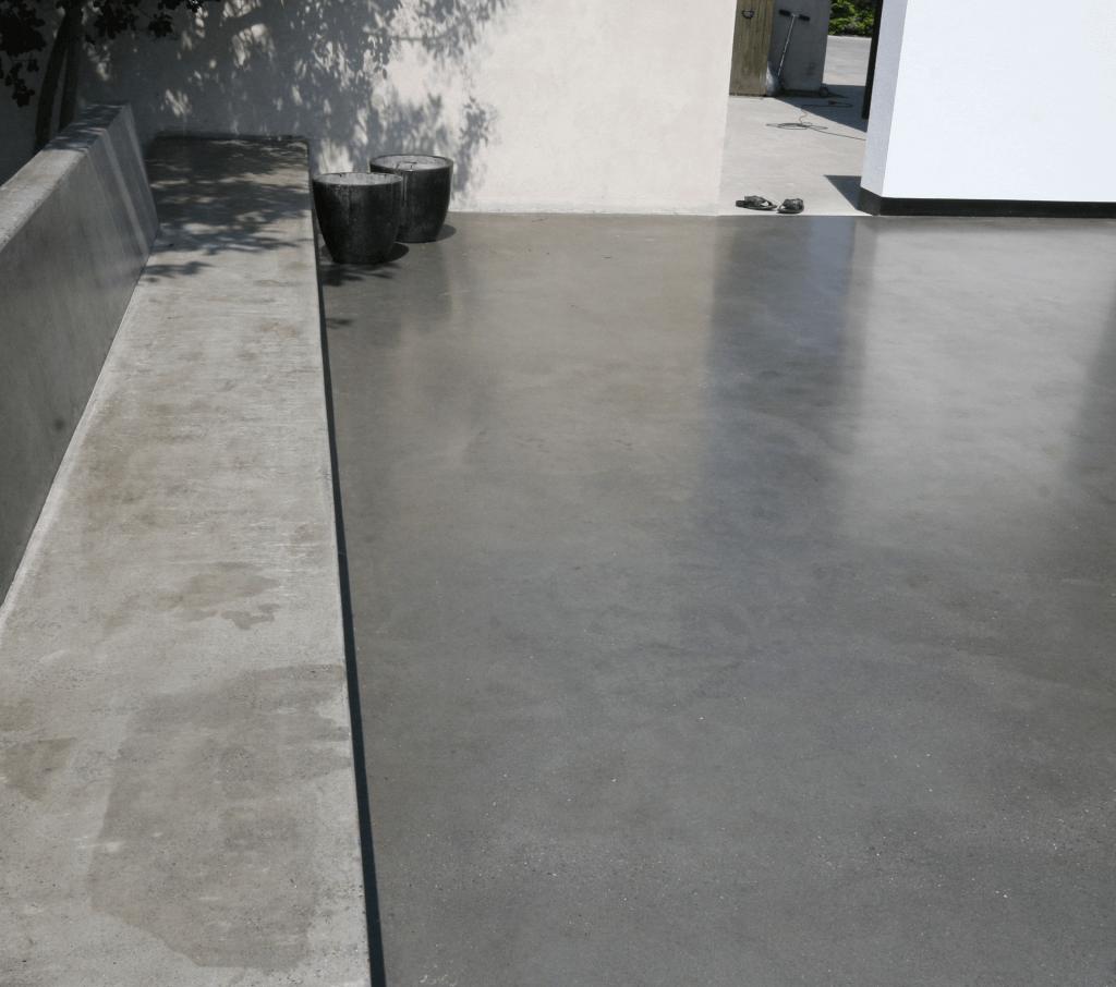 poleret betongulv udendørs