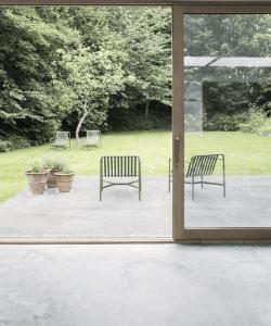 Betongulv - designgulv - ude og inde - stue - terrasse