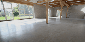 Poleret betongulv – privat bolig - aktivitetsrum