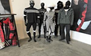 Støbning, slibning og polering af betongulv - BJÖRN BORG Showroom - hjørneparti
