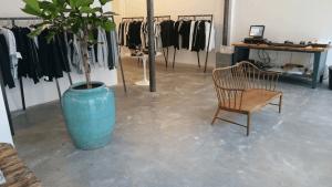 Støbning, slibning og polering af betongulv - MSCH - vinkelrum