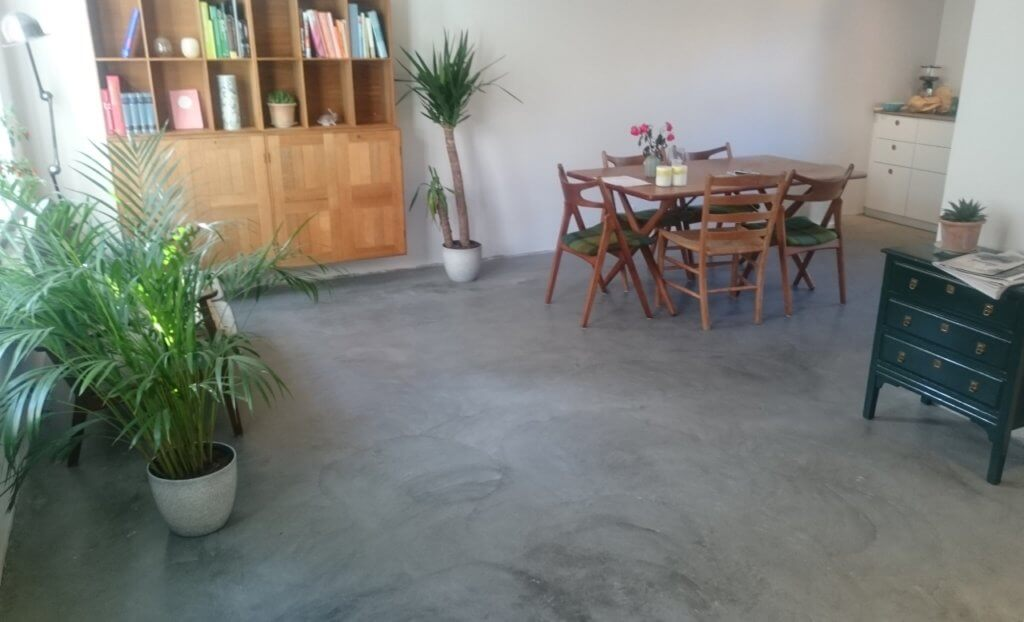 Aegte poleret betongulv – Designgulv – Amager