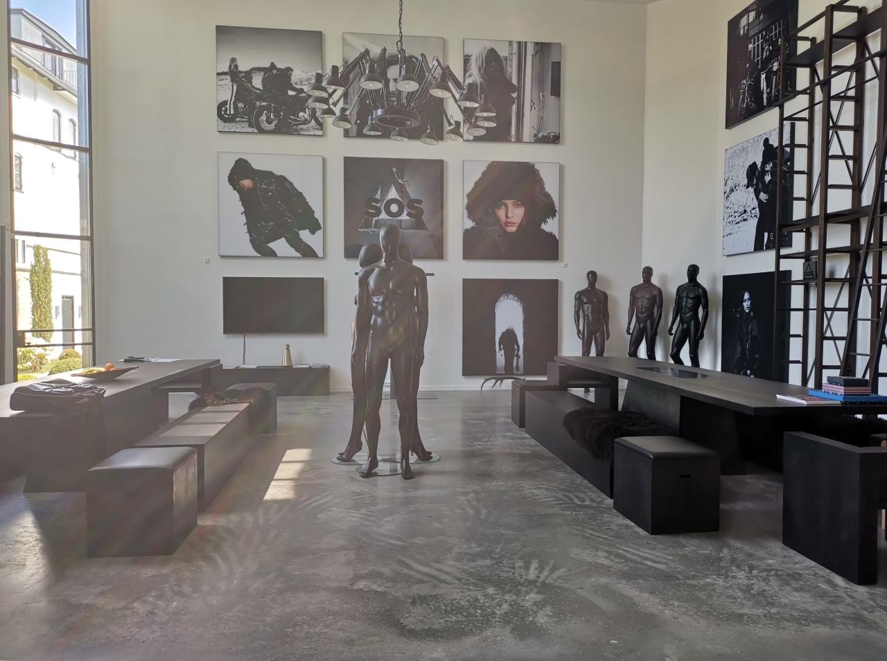 Poleret betongulv Björn Borg showroom