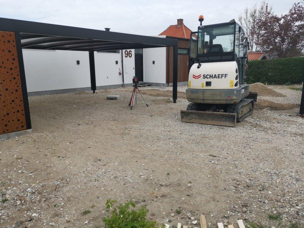 Forberedelse til betonterrasser - anden vinkel