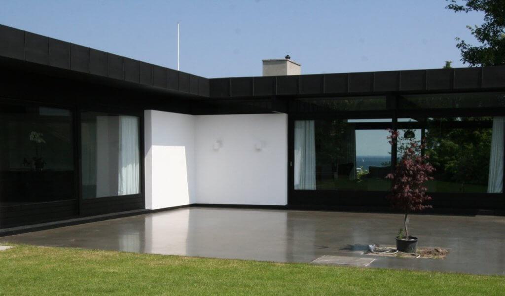 Poleret betongulv – betonterrasse – Hellerup