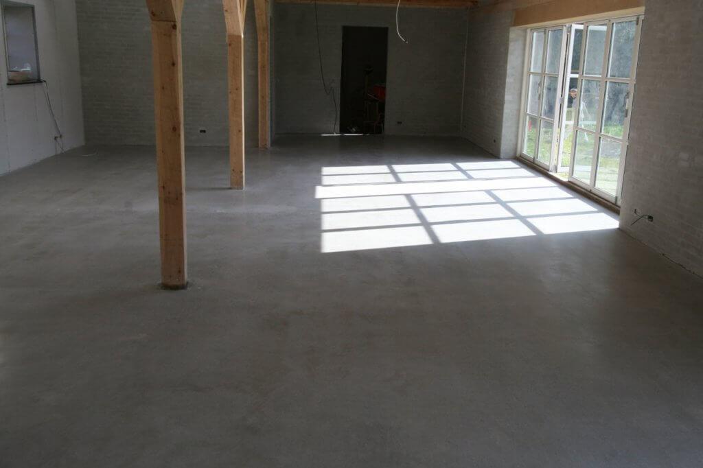 Poleret betongulv – customized