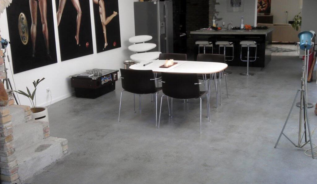 Poleret betongulv – interiør