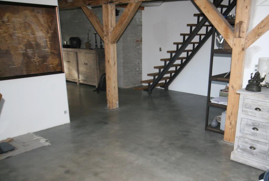 Poleret beton i penthouse
